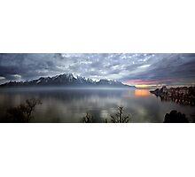 Mountain Lake at Dusk Photographic Print