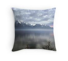 Mountain Lake at Dusk Throw Pillow