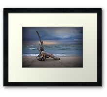 Sunrise on the beach at Oscoda Michigan on Lake Huron Framed Print