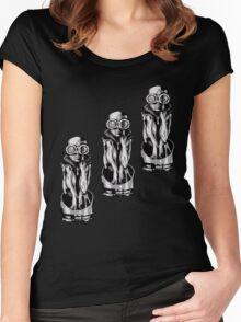 Giger's Birth Machine Baby Trio Women's Fitted Scoop T-Shirt