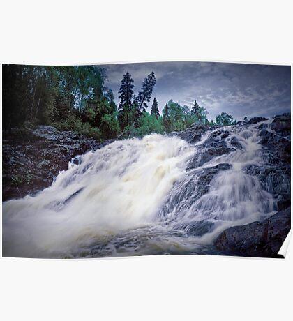 Lower Falls at Wawa Ontario Poster