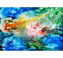 Unique colorful galaxy abstract art Photographic Print