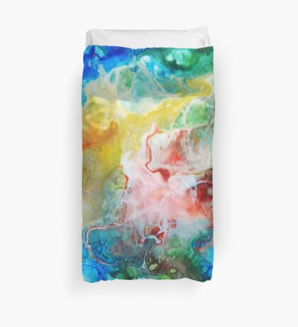 Unique colorful galaxy abstract art Duvet Cover