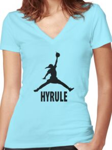The Legend of Zelda | Link x Jumpman Women's Fitted V-Neck T-Shirt