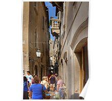 An alleyway in Split Poster