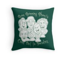 Grim Grinning Ghosts Throw Pillow