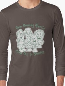 Grim Grinning Ghosts Long Sleeve T-Shirt