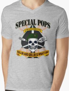 #1 DAD SPECIAL POPS Mens V-Neck T-Shirt