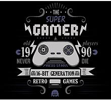 The Super Gamer Photographic Print