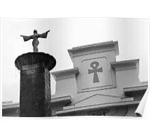 Egyptian Park in Black and White - the Pillar, San Jose, California 2011 Poster