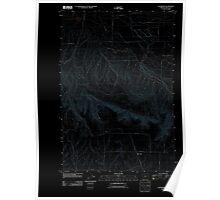 USGS Topo Map Oregon Waterman 20110811 TM Inverted Poster