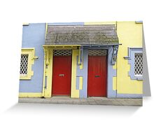 Red Doors and Easter Colors Greeting Card