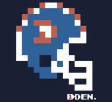 Tecmo Bowl - Denver Broncos - 8-bit - Mini Helmet shirt One Piece - Short Sleeve