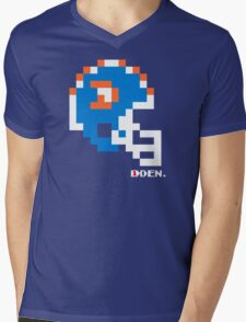 Tecmo Bowl - Denver Broncos - 8-bit - Mini Helmet shirt Mens V-Neck T-Shirt
