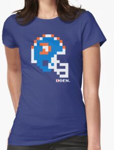 Tecmo Bowl - Denver - 8-bit - Mini Helmet shirt Womens Fitted T-Shirt