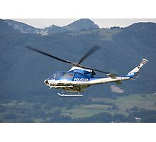 Police helicopter patrolling Photographic Print