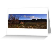 Little Cabin in the Hills Greeting Card