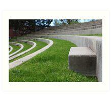 Seats In The Amphitheater Art Print