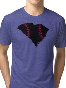 South Carolina Baseball Stitch Tri-blend T-Shirt