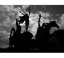 Silhouettes in Old San Juan - Puerto Rico Photographic Print