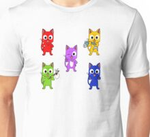 Anime cat quintet Unisex T-Shirt