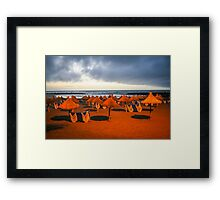 Beautiful beach in Tenerife before storm Framed Print