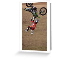 Motorbike Stunt 11 Greeting Card