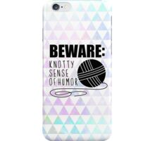 funny crochet knit humor knitting yarn skein ball  iPhone Case/Skin
