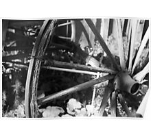 Carriage Wheel with Wire Poster