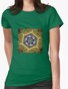 multi dimensional flame of love Womens Fitted T-Shirt