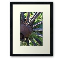 Carriage Wheel  Framed Print