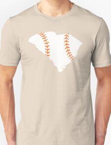 South Carolina Baseball Stitch (Orange) Unisex T-Shirt