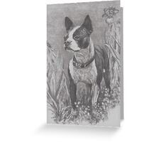 """""""Lady"""" in charcoal Greeting Card"""