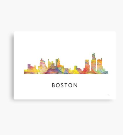 Boston, Massachusetts Skyline WB1 Canvas Print