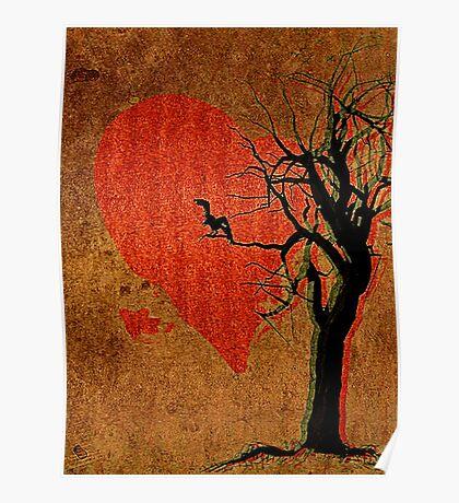 Heart, Tree, Raven Poster