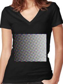 Colorful Pattern 3 Women's Fitted V-Neck T-Shirt