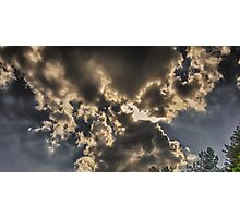 Bow Tie Clouds Photographic Print