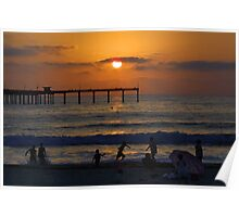 Ocean Beach Sunset Poster
