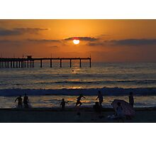 Ocean Beach Sunset Photographic Print