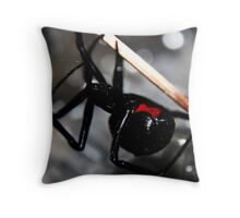 The Black Widow Throw Pillow