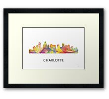 Charlotte, North Carolina Skyline WB1 Framed Print