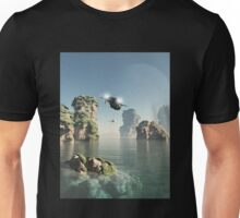 Flying Through The Sea Stacks Unisex T-Shirt