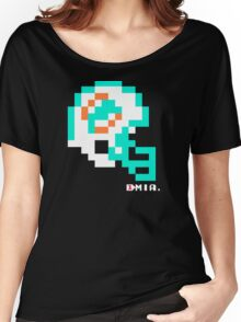 Tecmo Bowl - Miami Dolphins - 8-bit - Mini Helmet shirt Women's Relaxed Fit T-Shirt