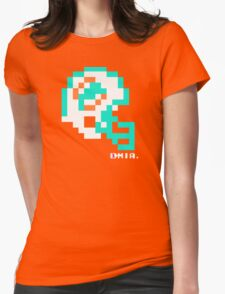 Tecmo Bowl - Miami Dolphins - 8-bit - Mini Helmet shirt Womens Fitted T-Shirt