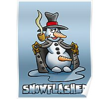 SNOWMAN FLASHER Poster