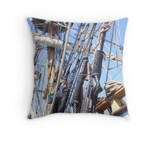 Kalmar Nyckel Rigging - Lewes, DE Throw Pillow