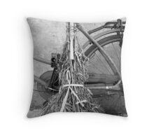 Broom & Bicycle - Shanghai, China Throw Pillow