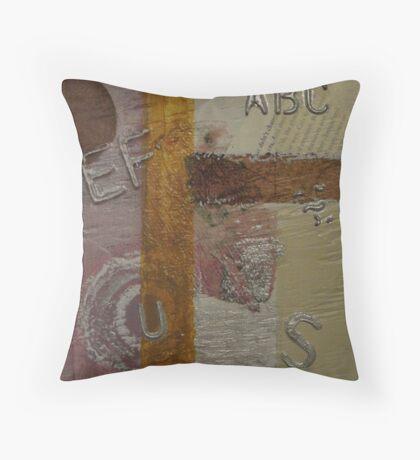 Vintage Triptic Three Throw Pillow