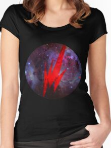 Brainfeeder in Space Women's Fitted Scoop T-Shirt