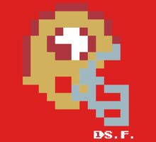 Tecmo Bowl -San Francisco 49ers - 8-bit - Mini Helmet shirt Kids Tee